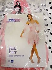 Halloween Costume Sexy Pink Fairy Womens Dress Wings Sleeves Sm Secret Wishes