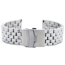 20/22/24mm Stainless Steel Strap Solid Bracelet Wrist Watch Band Silver/Black