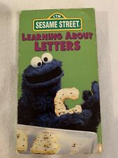 Vintage VHS~ Sesame Street Home Video ~LEARNING ABOUT LETTERS ~1986 Tested Ok