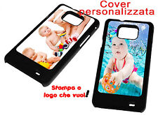 PRINT PERSONALIZED PHOTO COVER FLIP COMPATIBLE SAMSUNG GALAXY S2 BLACK