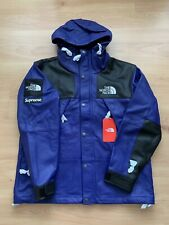 Supreme x The North Face Leather Mountain Parka Royal Size Medium Purple Jacket
