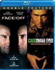 Face Off / Snake Eyes (Blu-ray 2 disc) Nicolas Cage, John Travolta  NEW