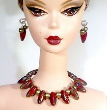 Dreamz RED Choker Necklace Set Doll Jewelry made for Barbie