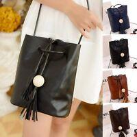 Women Lady Hobo PU leather Handbag Shoulder Bag Purse Korean Style Fashion New
