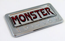 MONSTER  Edition Chrome Emblem with domed decal Car Auto Bike Badge Motorcycle