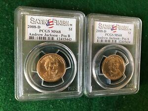 2008 D Andrew Jackson Presidential Dollars , Satin Finish -T