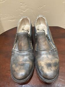 Freebird by Steven Mason Leather Loafer, Distressed Brown, Size 8