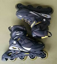 Mens Dbx Inline Roller Skates Size 7 Womens Size 8 Abec 7 80mm Black with Yellow