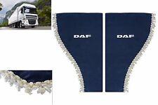 2 x LKW Seitenscheibe Gardinen Seitenfenster Scheiben Vorhänge BLAU für DAF