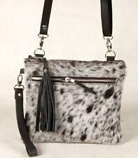 Real Cowhide Cross body Purse Handbag & Hand Clutch Cow Hide Leather Sa-398