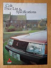 MITSUBISHI COLT Range 1981 UK Mkt specs & price brochure -Sapporo Lancer Celeste