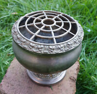 VINTAGE SILVER PLATED IANTHE POT POURRI DISH ROSE BALL WITH GRILLE, ROSE EDGE