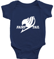 Infant Baby Outfit Rib Bodysuit Clothes Jumpsuit Outfit Print Fairy Tail Anime
