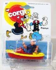 CORGI Juniors POPEYE & Boat Diecast Model Car on Repro 67 Blister Pack Card