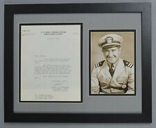 MICKEY COCHRANE SIGNED AUTO AUTOGRAPH NAVY MILITARY LETTER PHOTO DISPLAY JSA/DNA