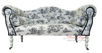 Black Silver Diamond Velvet Crystal Chaise Longue Sofa Ebay