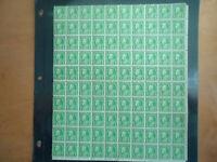 US SCOTT #632 1927 1 CENT BENJAMIN FRANKLIN FULL SHEET OF 100 MNH OG