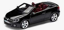 GENUINE VW GOLF MK6 CABRIOLET DEEP BLACK PEARL 1:43 SCALE DIECAST MODEL CAR