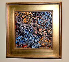 """""""Metallic"""" ORIGINAL Abstract Painting 17 1/2"""" x 17 1/2"""" x 2"""" GREGORY HUGH LENG"""