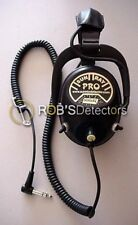 Sun Ray Pro Gold Headphones for all Metal Detectors, 150 Ohms - Free Shipping
