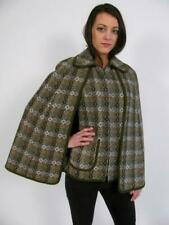DILLAD WELSH WALES GREEN WOOL TAPESTRY CAPE PONCHO COAT JACKET CONVERTS VEST~S