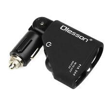 Folding Dual USB Car Cigarette Lighter Socket Splitter 12V Charger Power Adapter