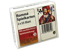 2x 55 Blatt Rommé Canasta Bridge Spielkarten | Romme Karten | Kartendeck