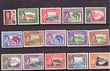Domica George VI, 38 set, multiple, multi-colour SG99/08,  L/ hinged  Cat. £90