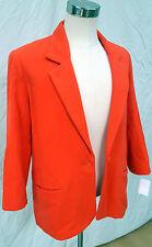 Ellen Figg Bright Orange Flannel Coat.  Orange Silk Lining.  Size 10.