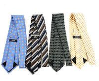 Lot of (4) Boss Hugo Boss Mens 100% Silk Ties Made Italy