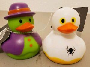 2- RUBBER DUCKS DUCKY Duckies - Halloween Day of the Dead - kids bath pool spa