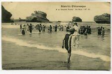 CPA - Carte Postale - France - Biarritz - A la Grande Plage - Le Bain - 1911