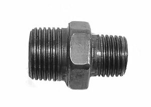 "3/8"" x 1/4"" BSP Black Malleable Iron Hex Reducing Nipple"