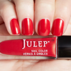 NEW! Julep nail polish SUZANNE Nail Vernis ~ Scarlet with gold microshimmer