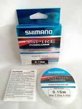 Shimano Aspire Fluorocarbon Fishing Line 0.16mm Dia 4.4lb 50 metre Spool - New