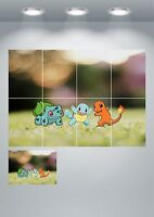 Pokemon Go Large Wall Art Poster Print A3/A4 Sections or Giant 1Piece A0 A1