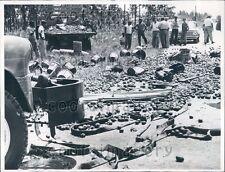 1960 Truck Loses Load of Tomatoes Homestead FL Press Photo