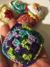 CROCHET MINIATURE DOLLHOUSE  PILLOW  Matches Blanket Lily Pond 1.75 Inches