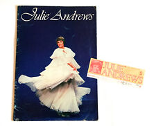 JULIE ANDREWS JAPAN TOUR 1977 CONCERT PROGRAM BOOK w/Ticket stab