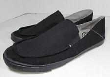 Robert Wayne Mens Palm Canvas Loafer Shoes, Black, US 9