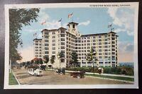Municipal Pier Chicago Illinois vintage linen postcard 1915 Max Rigot