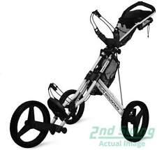 Lightly Used Sun Mountain Golf Speed Cart GX Push Pull Golf Cart Silver 3 Wheel