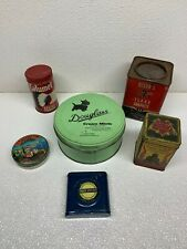 Vintage Tin Advertisement Lot Douglass, Calumet, Dixon's Licorice