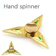 Gold Genji Fidget Hand Spinner Triangle Finger Focus Toy EDC ADHD Autism Hot