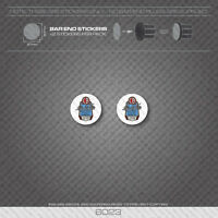 6023 - Claud Butler Bicycle Handlebar Bar End Plug Stickers - Decals