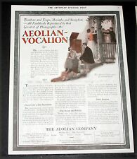 1920 OLD MAGAZINE PRINT AD, AEOLIAN-VOCALION PHONOGRAPH, FAULTLESS REPRODUCTION!