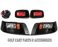 EZGO TXT Golf Cart Headlight & Tail Light Kit 1996-2013 Gas and Electric Models