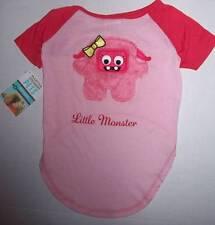 "NWT Martha Stewart Pets Pink Dog shirt ""Little Monster"" Size Large"
