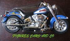 MOTO1/18 HARLEY DAVIDSON  HERITAGE SOFTAIL BLEU / GRIS