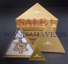 SALE SWAROVSKI set 5x 2010 large SCS golden shadow annual snowflake ornament NEW